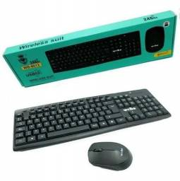Mouse e Teclado sem fio (Wiebo WB-8012) - Precinho