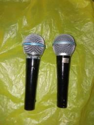 Vendo dois microfone shure SM58A e shure beta SM58