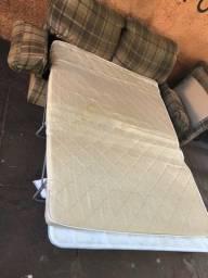 Título do anúncio: Sofá cama com colchão estrutura de ferro