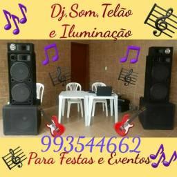 ALUGUEL DE SOM, DJ , TELÃO E ILUMINAÇÃO PARA FESTAS E EVENTOS.