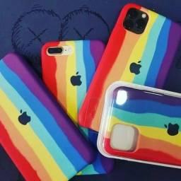 Capa Case iPhone Original Arco-íris