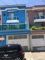 Sobrado com 3 dormitórios à venda, 132 m² por R$ 670.000,00 - Parque das Nações - Santo An