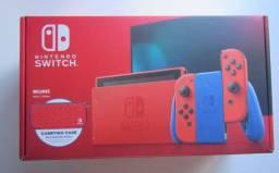 Nintendo Switch 32gb Edição Especial S Mario Azul E Vermelho