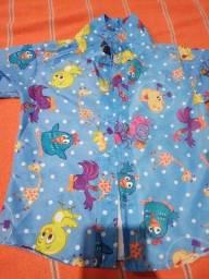 Camisa temática galinha pintadinha