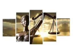 Título do anúncio: Quadro decorativo estruturado - kit 5 peças modelo Balança da Justiça