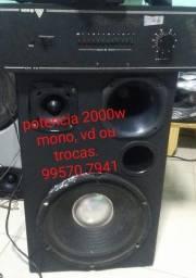 potencia amplificador mono , 2000 w aproxim VD /trocas