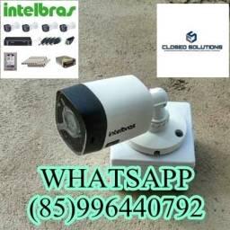 Câmeras De Segurança Kit 4 câmeras Intelbras instalado 1700,00