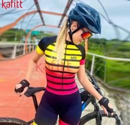 Macaquinho Ciclismo Feminino MTB Pronta Entrega