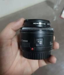 Lente Canon 50mm 0.45m/1.5ft + Filtro Uv Hoya