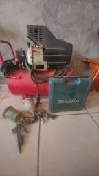 Compressor com pinador é 2 pistola pulverizador