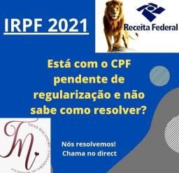 CPF COM PENDÊNCIA DE REGULARIZAÇÃO/ IRPF