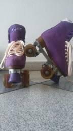 Patins Quad (4 rodas) infantil feminino  Traxart Tamanho 3 Roxo