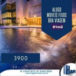 Título do anúncio: Alugo  !!!! /81m2/2quartos/moveis fixox/boa viagem