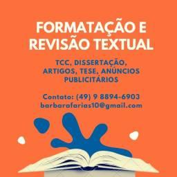 Título do anúncio: Formatação e revisão textual