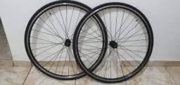 Par de Rodas 700c (speed, road bike, bicicletas de estrada, bike urbana)