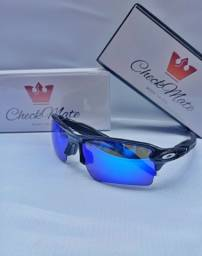 Título do anúncio: Óculos Oakley flak LENTE AZUL