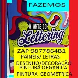 arte e pintura lettering  e  decoracao  de  paredes