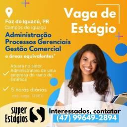 Título do anúncio: Vaga de Estágio Setor Administrativo em Clínica Estética - Foz do Iguaçú (Vaga Nº 123611)