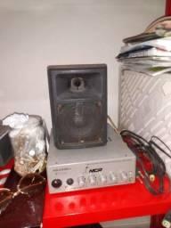 Amplificador, mais caixa de som