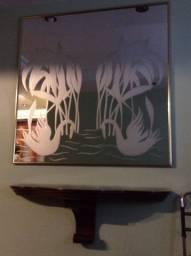 Console e espelho decorado