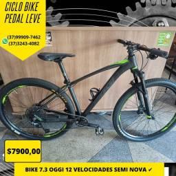 Bicicleta Oggi 7.3 semi nova com upgrades