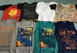 Camisetas manga curta/ regata menino tam 4