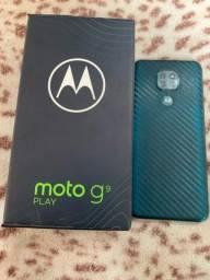 Moto g9 play bem conservado novo
