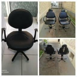 Cadeiras hidráulicas para salão