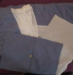 Título do anúncio: Cobre leite acolchoado casal com 2 capa para travesseiro Novo,