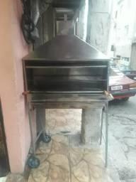 Carrinho de churrasco ambulante churrasqueira
