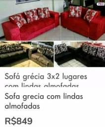 Sofa grecia 3x2 lugares avista $799