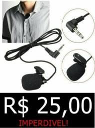 Microfone de lapela(grátis extensor de 1.80)
