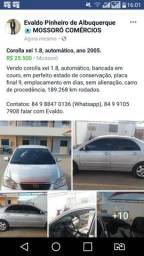 Baixei o preço: Toyota Corolla xei 1.8 ano 2005 automático - 2005
