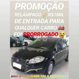 Isso SÓ AQUI! R$1MIL DE ENTRADA(FIAT LINEA ESSENCE 2015) - 2015