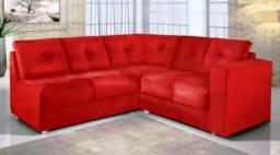 Sofa De Canto Lisboa 5040 Suede Liso Vermelho - Boareto