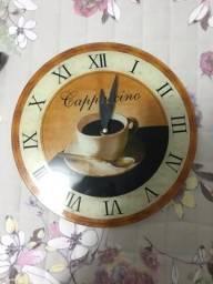 Relógio de parede motivo café