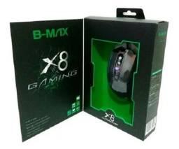 Mouse Gamer X8 B-max Para Jogos Confortável Luz Led Expert