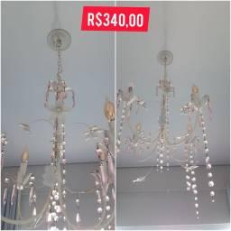 Lustre 4 lâmpadas delicado
