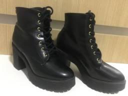 Bota Coturno Preto City Shoes