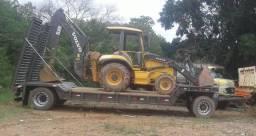 Reboque prancha Justari transporte maquinas