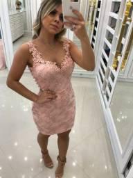 Vestido de Festa Rosa Claro Dois em Um