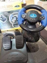 Volante controle simulador PC/PS2