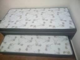cama com auxiliar 07 cm de espuma bi cama com entrega gratis