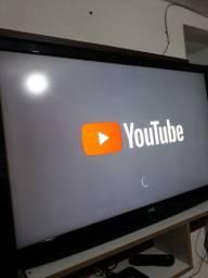 Tv 43 + aparelho smart + conversor digital