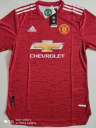 Camisa Manchester United Titular Player Adidas 20/21 - Tamanho: G