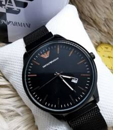 Relógio Empório Armani - Preto<br><br>