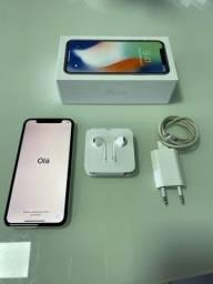 Vendo IPhone X 256gb na cor prata!!!