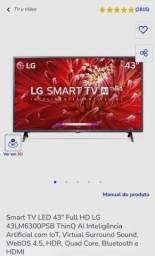 """Smart TV LG 43"""" Lacrada com Nota *leia o anuncio*"""