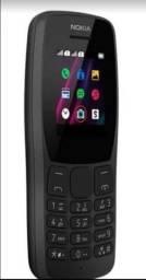 Celular Nokia 110 - Rádio FM e Leitor integrado Câmera VGA e 4 jogos - NK006