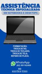 Título do anúncio: Assistência técnica de informáticas  atendemos Goiânia e região
